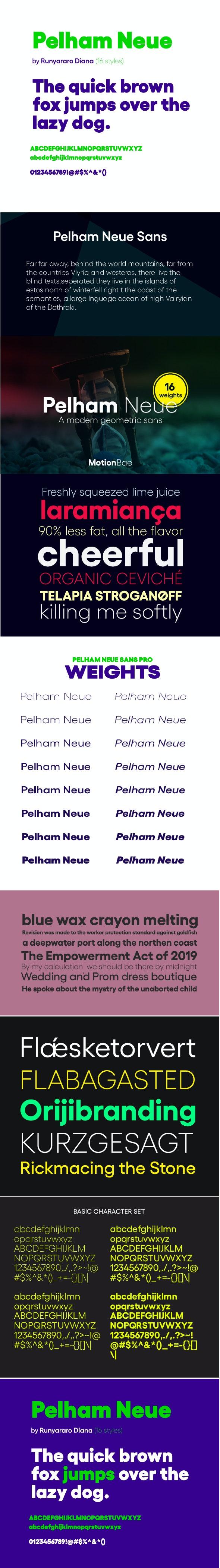Pelham Neue Sans Serif Font (16 Fonts) - Miscellaneous Sans-Serif