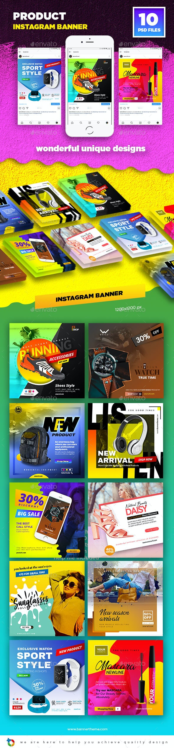 Product Instagram Banner - Social Media Web Elements