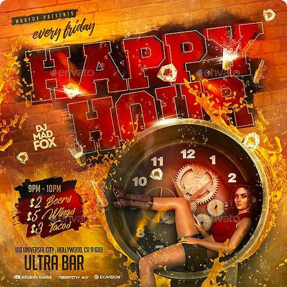 Happy Hour Party Flyer