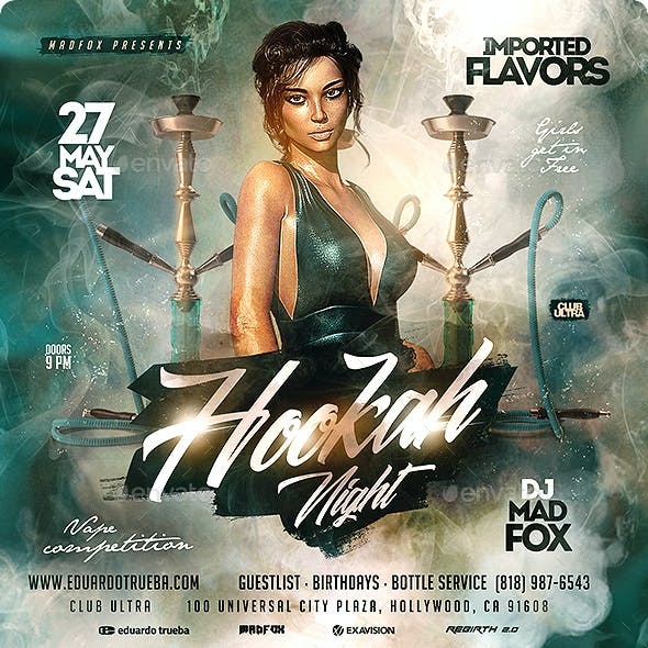 Hookah Night Party Flyer