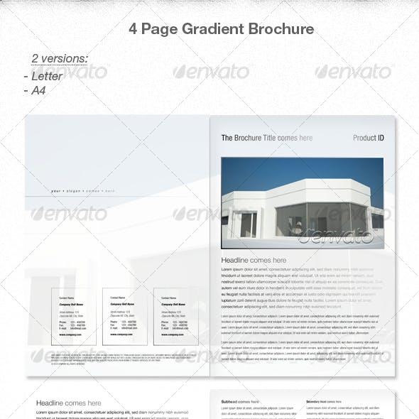 Elegant 4 page Gradient Brochure