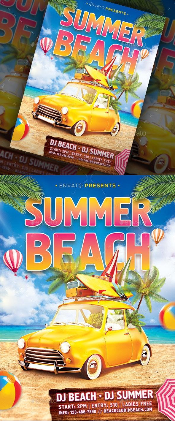 Summer Beach Flyer - Events Flyers
