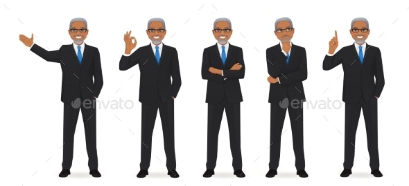 Business Man Set - People Characters