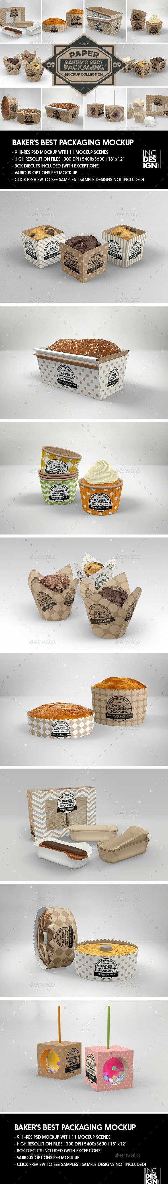 Baker's Paper Packaging MockUps - Packaging Product Mock-Ups