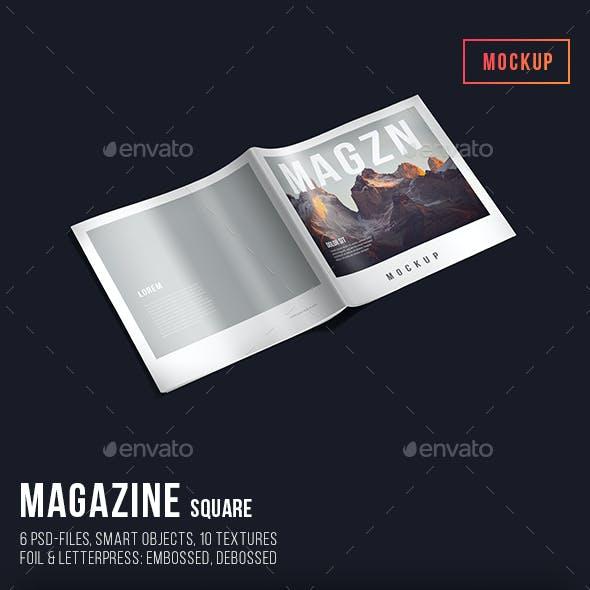 Magazine Mockup Square