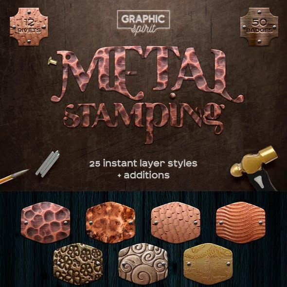 Metal Stamping Photoshop Styles