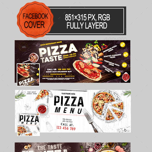 Pizza Facebook Covers
