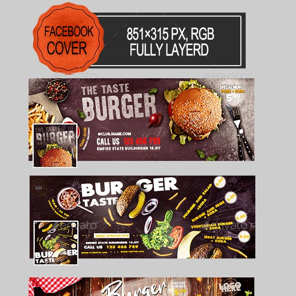 Burger Facebook Covers