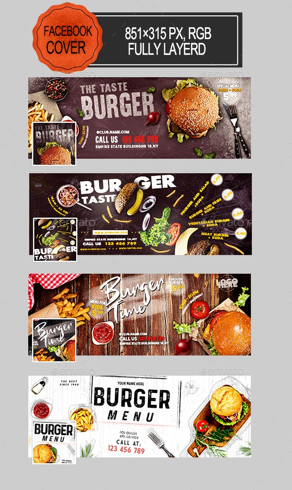 Burger Facebook Covers - Facebook Timeline Covers Social Media