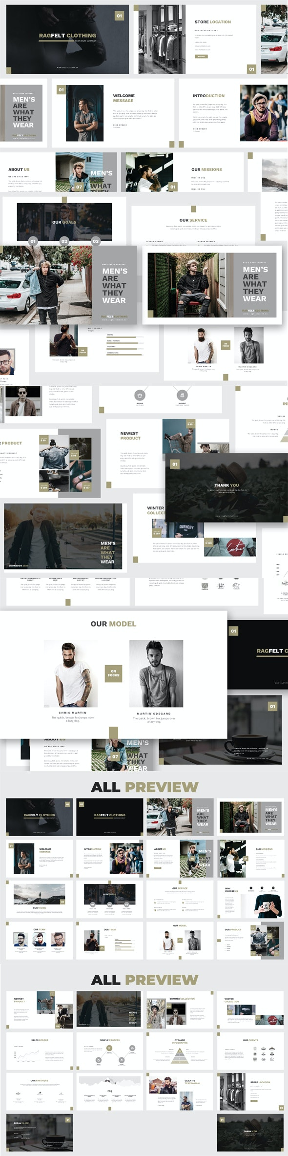 Man Fashion Keynote Template - Keynote Templates Presentation Templates