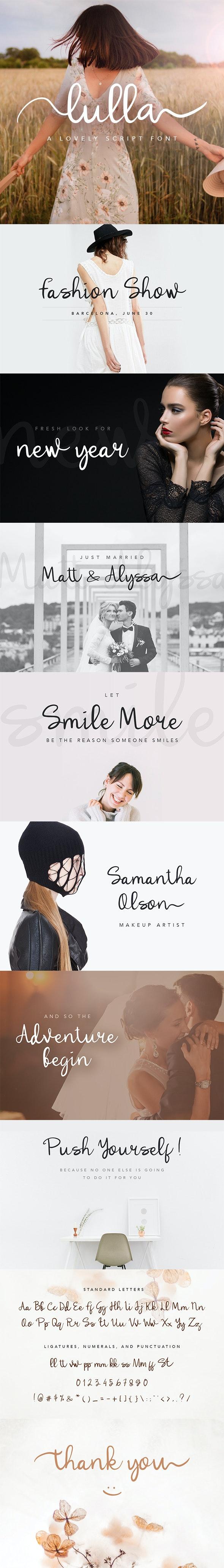 Lulla Font - A Lovely Script Font - Script Fonts