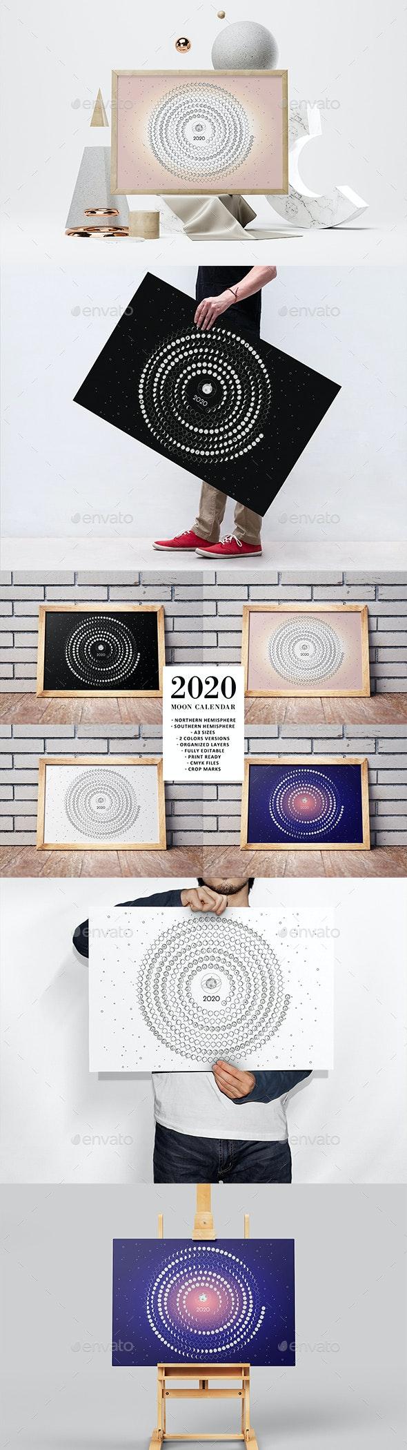 Moon Calendar 2020 - Calendars Stationery