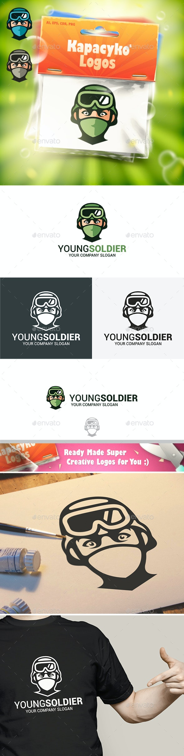 Young Soldier Logo - Humans Logo Templates