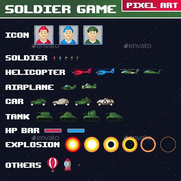 Soldier Game Pixel Art