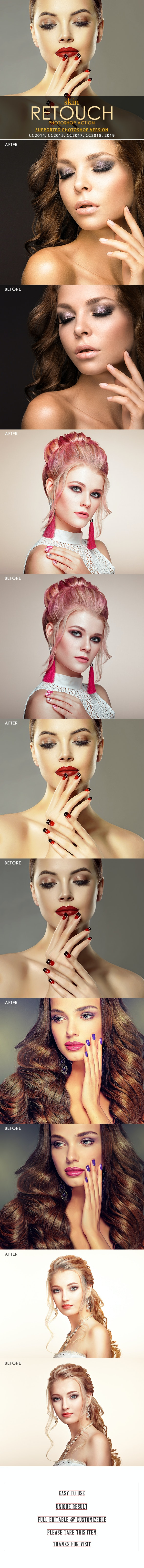 Skin Retouch Photoshop Action - Actions Photoshop