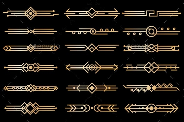 Art Deco Borders - Borders Decorative