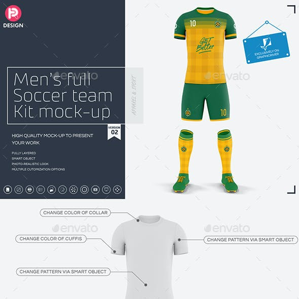 Men's Full Soccer Team Kit Mockup V2