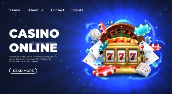 Casino Landing Page - Miscellaneous Vectors