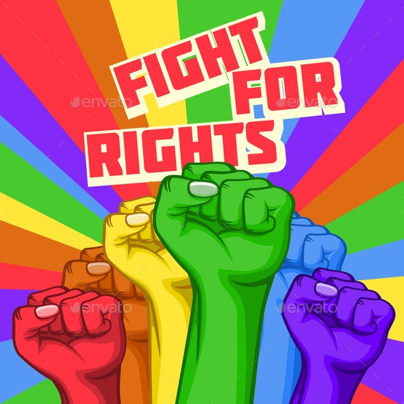 Vector Fight for Rights Poster - Miscellaneous Vectors