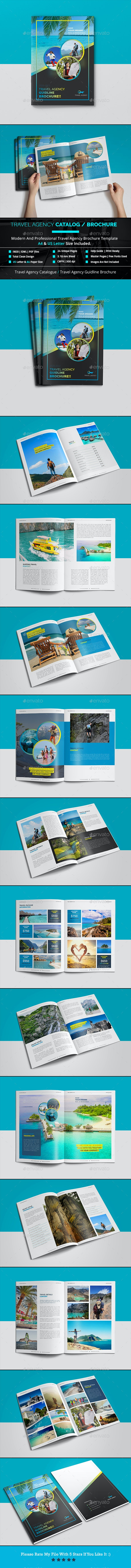 Travel Agency Catalog / Brochure Template - Catalogs Brochures
