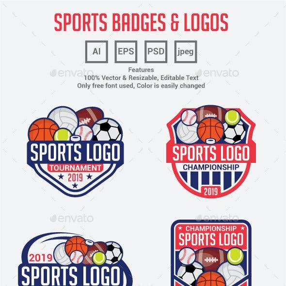 All Sports Logo Badges