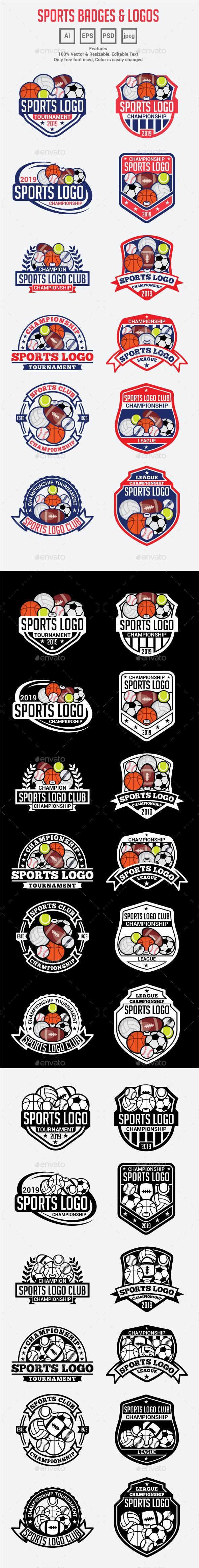 All Sports Logo Badges - Badges & Stickers Web Elements