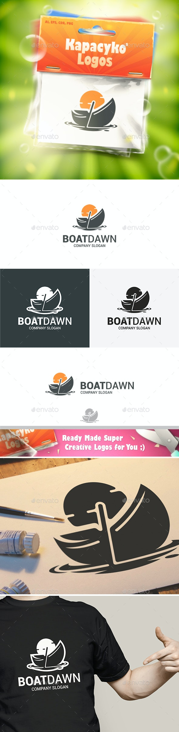 Boat Dawn Logo - Abstract Logo Templates