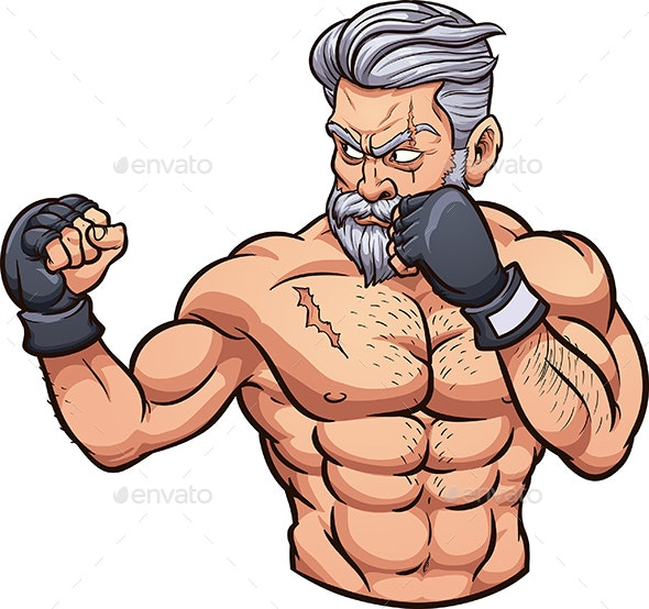 Old MMA Fighter - People Characters