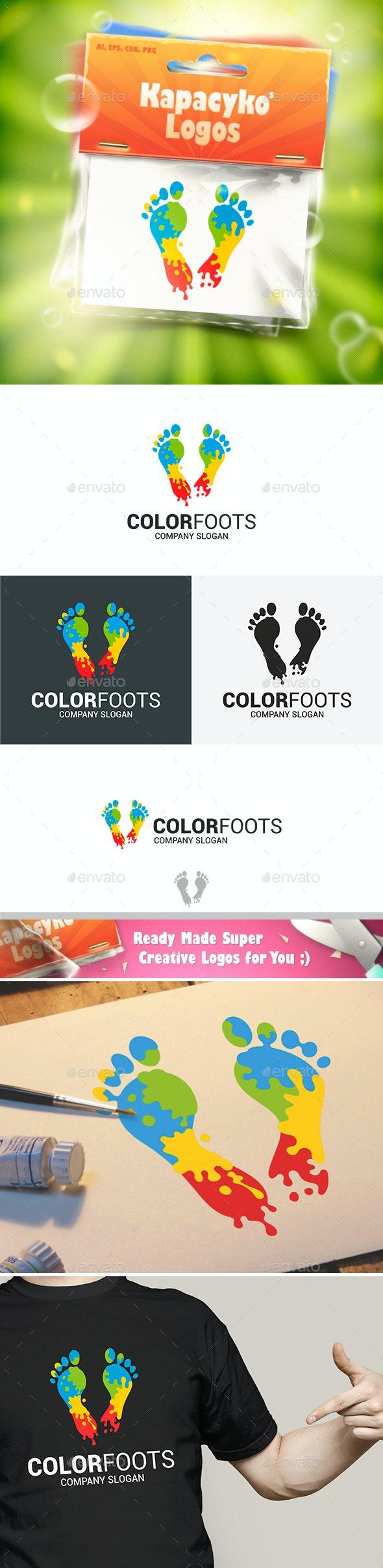 Color Foot Logo - Abstract Logo Templates