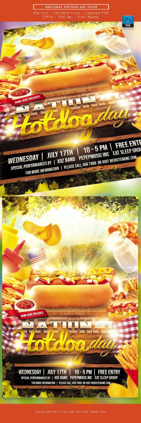 National Hotdog Day Flyer - Events Flyers