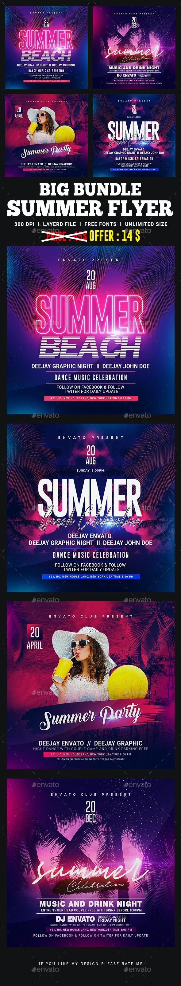 Summer Flyer Bundle - Clubs & Parties Events