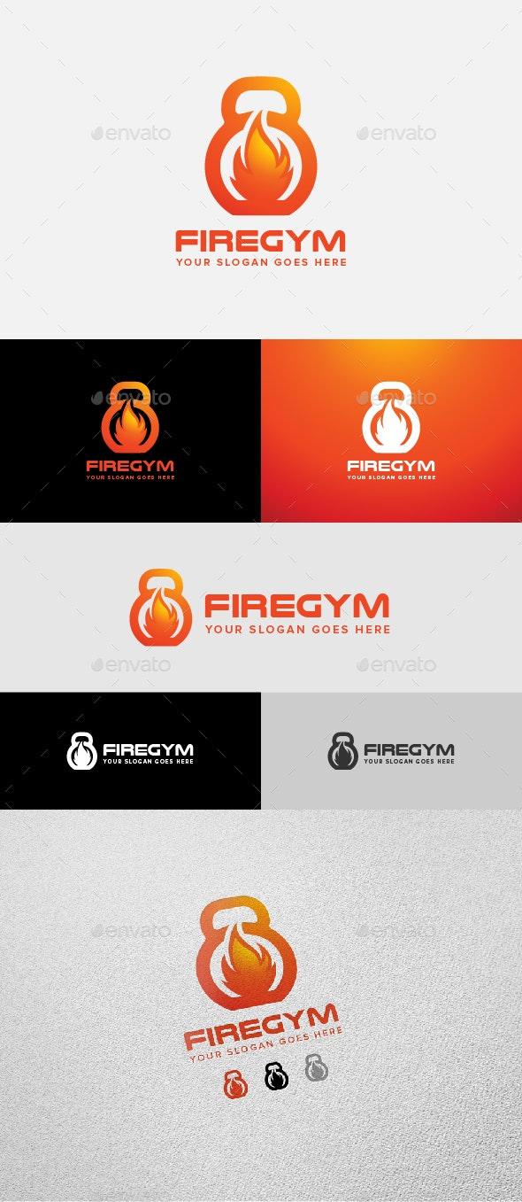 Fire Gym & Fitness Logo - Objects Logo Templates