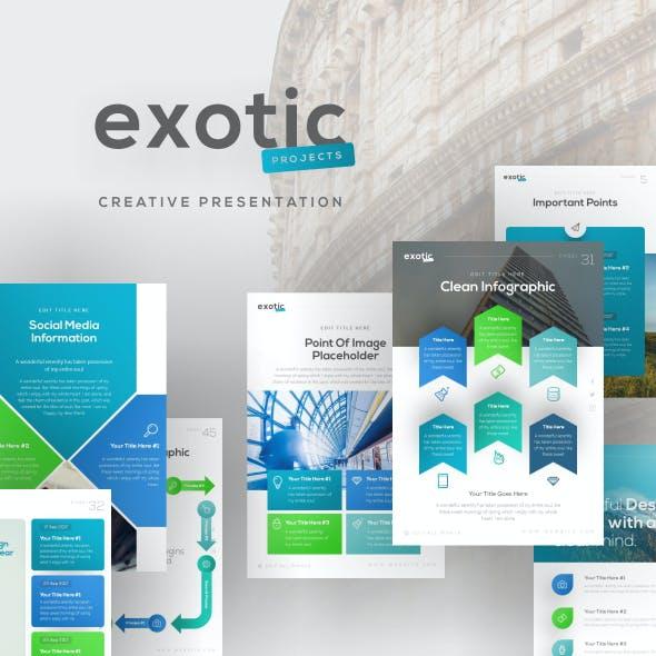 Exotic Portrait Creative PowerPoint Template