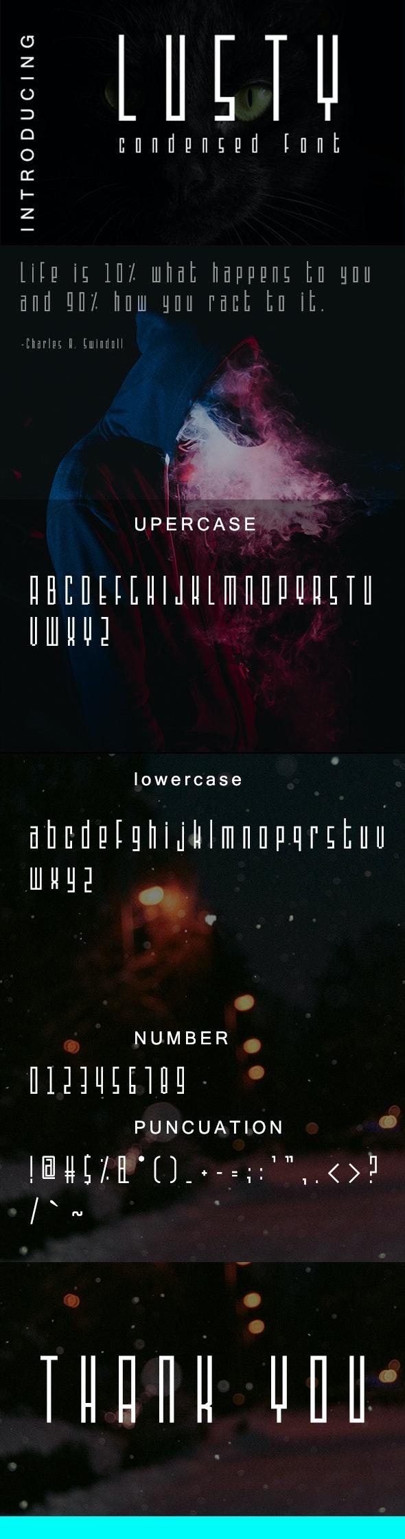 Lusty - Condensed Font - Condensed Sans-Serif