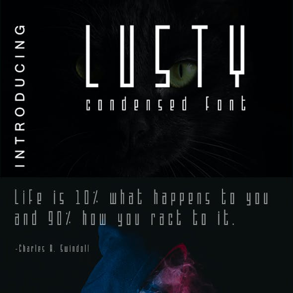 Lusty - Condensed Font