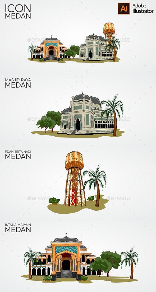 Icon Medan - Buildings Objects