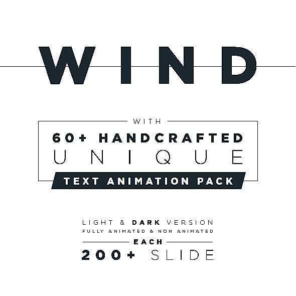 Wind Minimal & Clean Powerpoint With Text Animation Pack