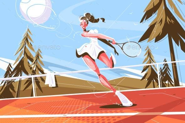 Girl with Racquet - Sports/Activity Conceptual