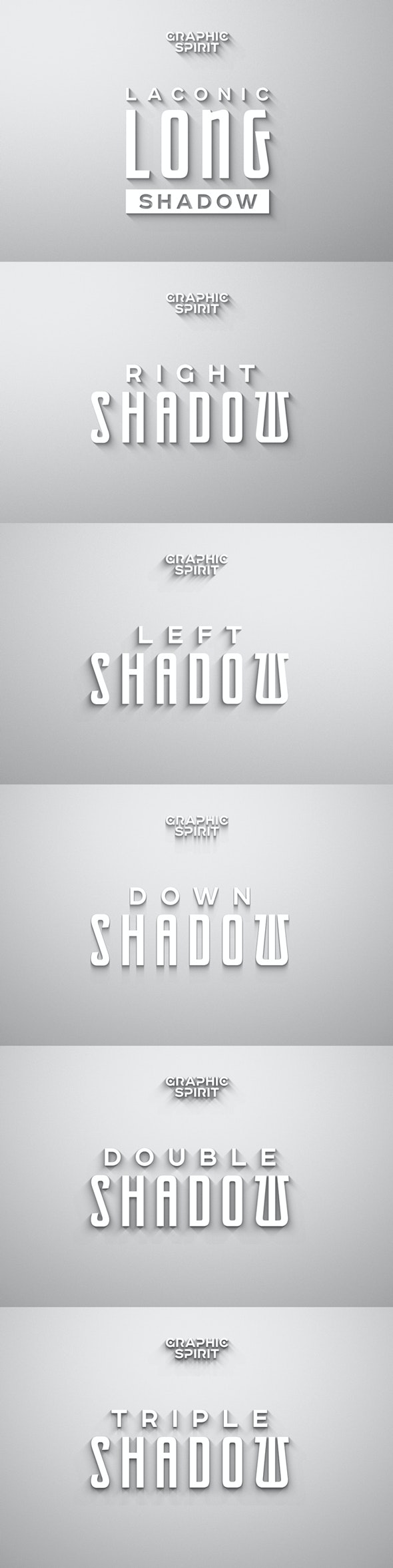Laconic Long Shadow for Photoshop - Text Effects Actions