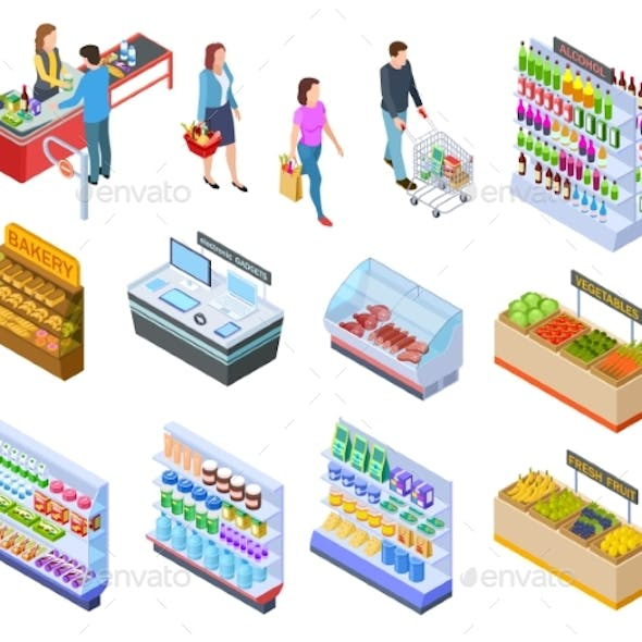 People Isometric Store