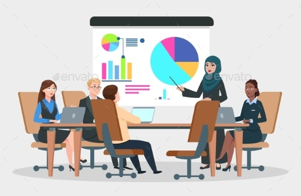 Business Meeting Vector - People Characters
