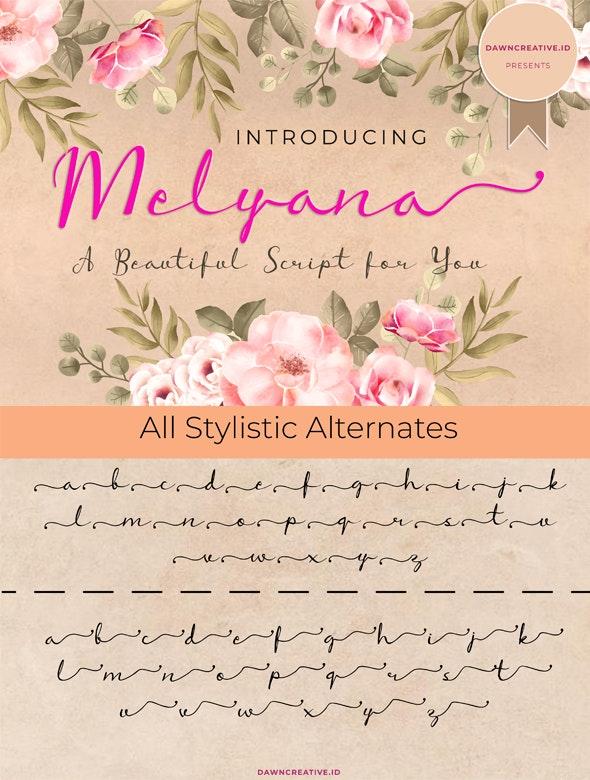 Melyana Script Font - Hand-writing Script