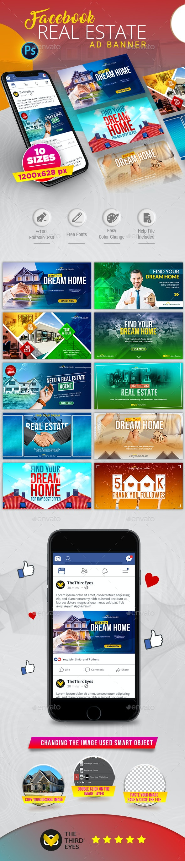 Real Estate Facebook AD Banner - Social Media Web Elements