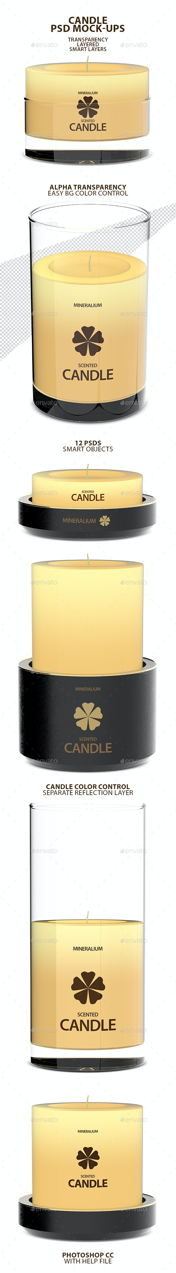 Candle PSD Mock-ups - Miscellaneous Product Mock-Ups