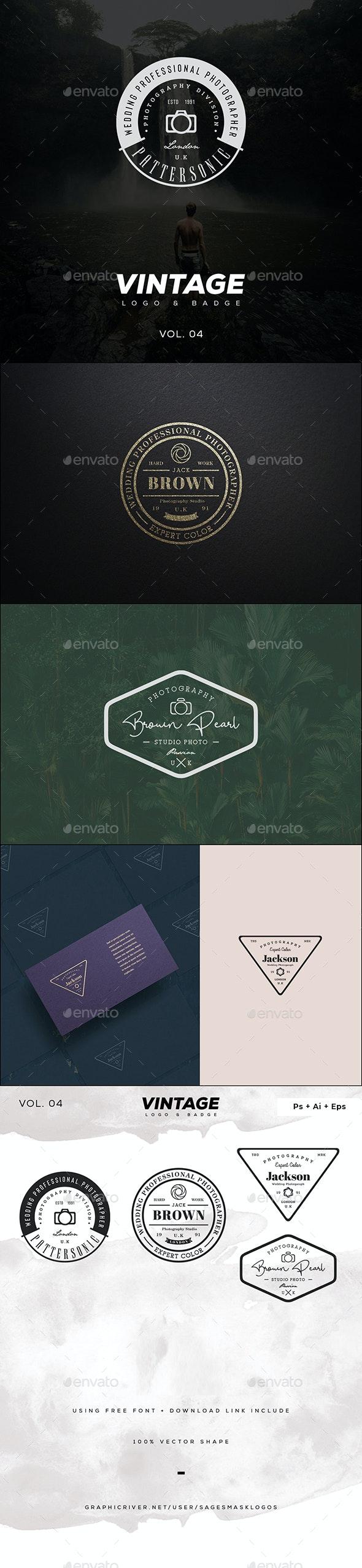 Vintage Logo & Badge Vol. 5 - Badges & Stickers Web Elements