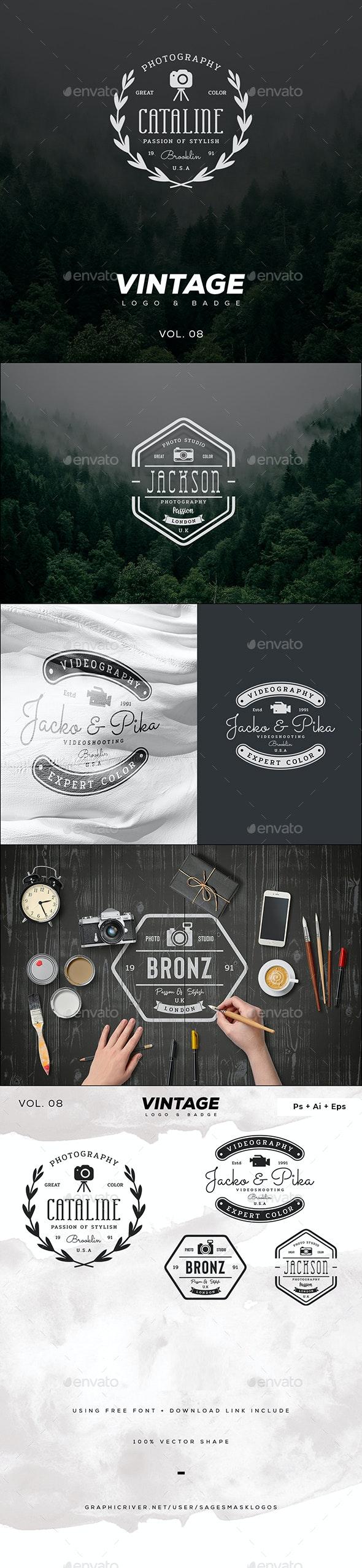 Vintage Logo & Badge Vol. 8 - Badges & Stickers Web Elements