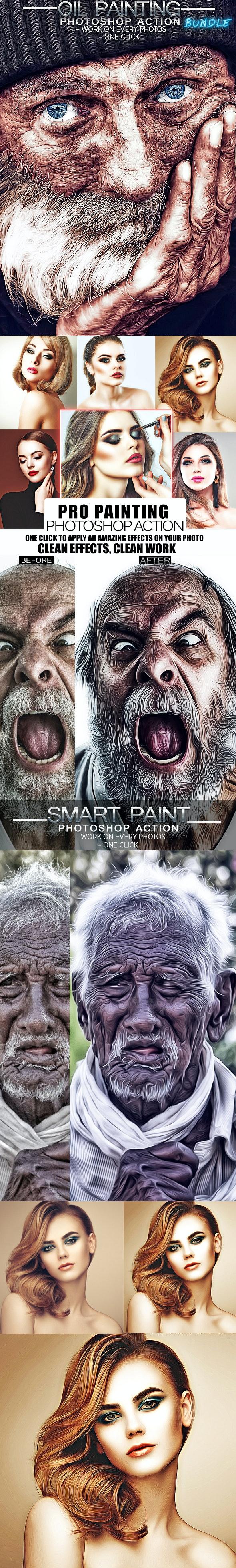 Oil Painting Bundle - Actions Photoshop