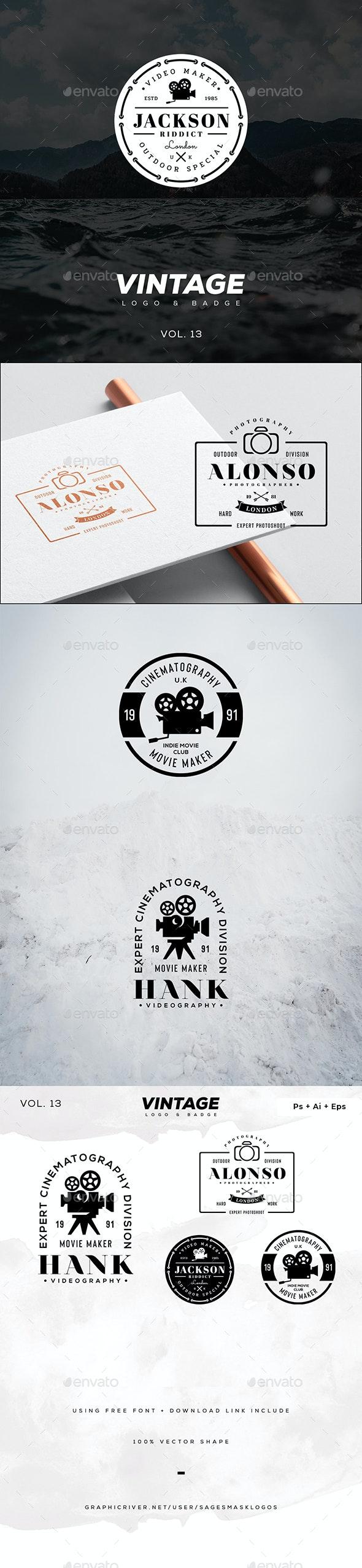 Vintage Logo & Badge Vol. 13 - Badges & Stickers Web Elements