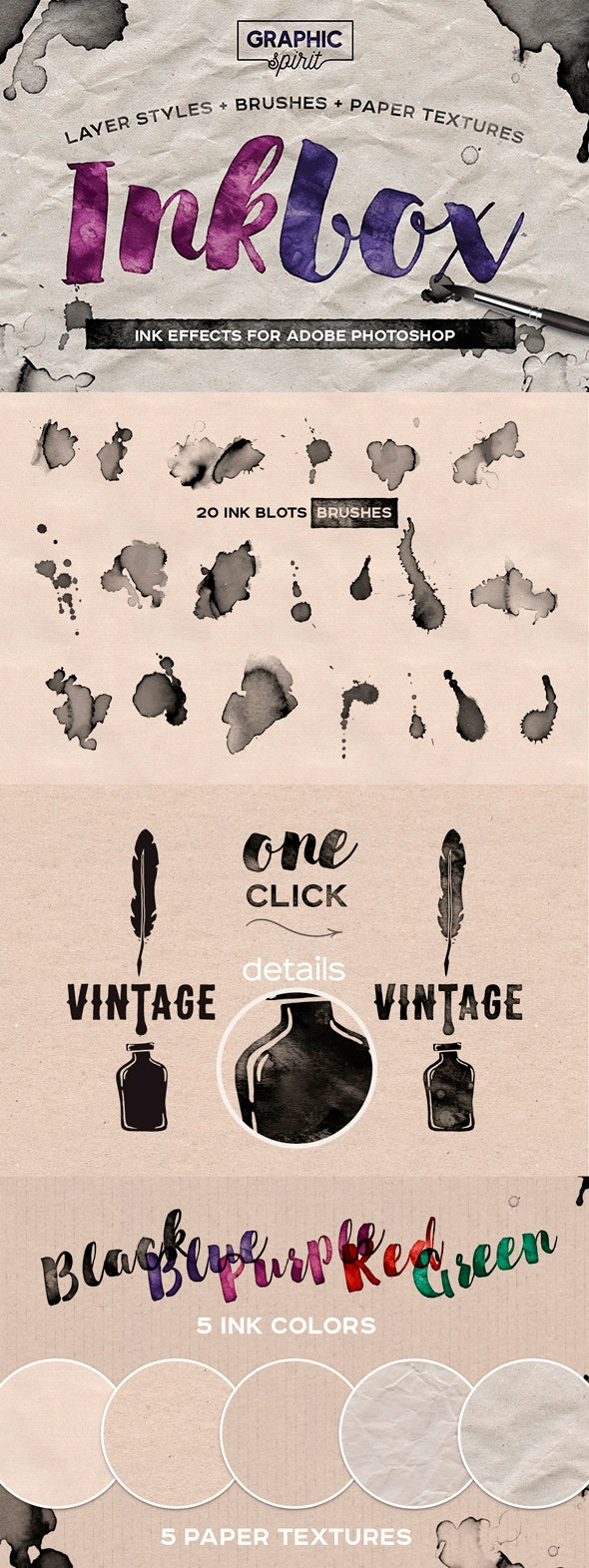 INKBOX: Realistic Ink Effects - Text Effects Actions