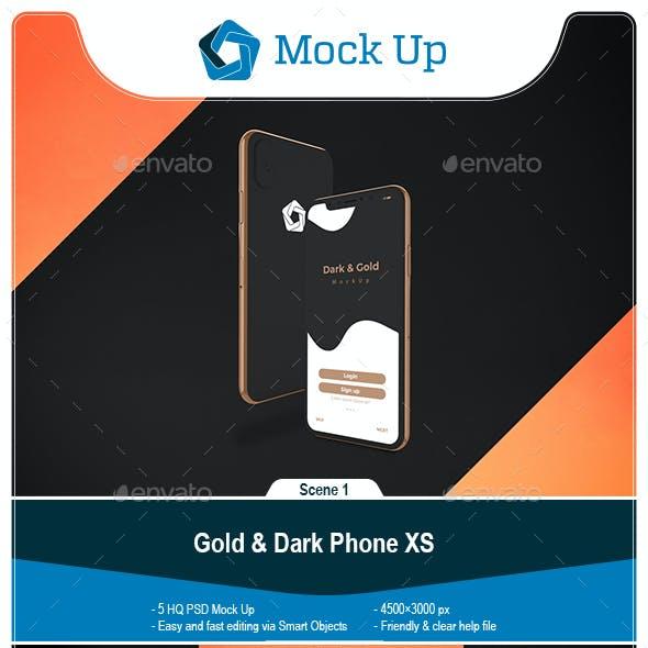 Gold & Dark Phone XS
